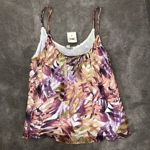 Lucky brand tank lined camisole size M NWT